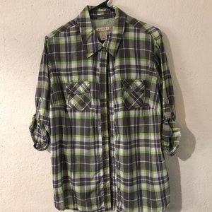 👽2/$30 Arizona Plaid Roll Up Shirt